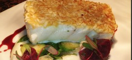 Poha Crusted Halibut