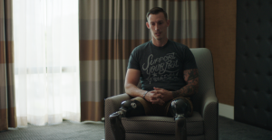 Episode One, God in the Machine, explores the world of NASCAR, following an injured Marine-turned-driver who has a unique perspective on the concept of melding man and machine.