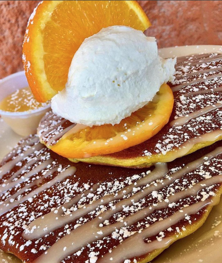 """Creamsicle"" pancakes at Babystacks."