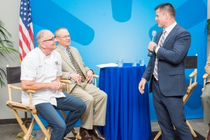 Stann speaks at DC ceremony where the Walmart Foundation issued a $1 million grant to Hire Heroes USA. Robert took part in the festivities, hosting a cooking challenge.