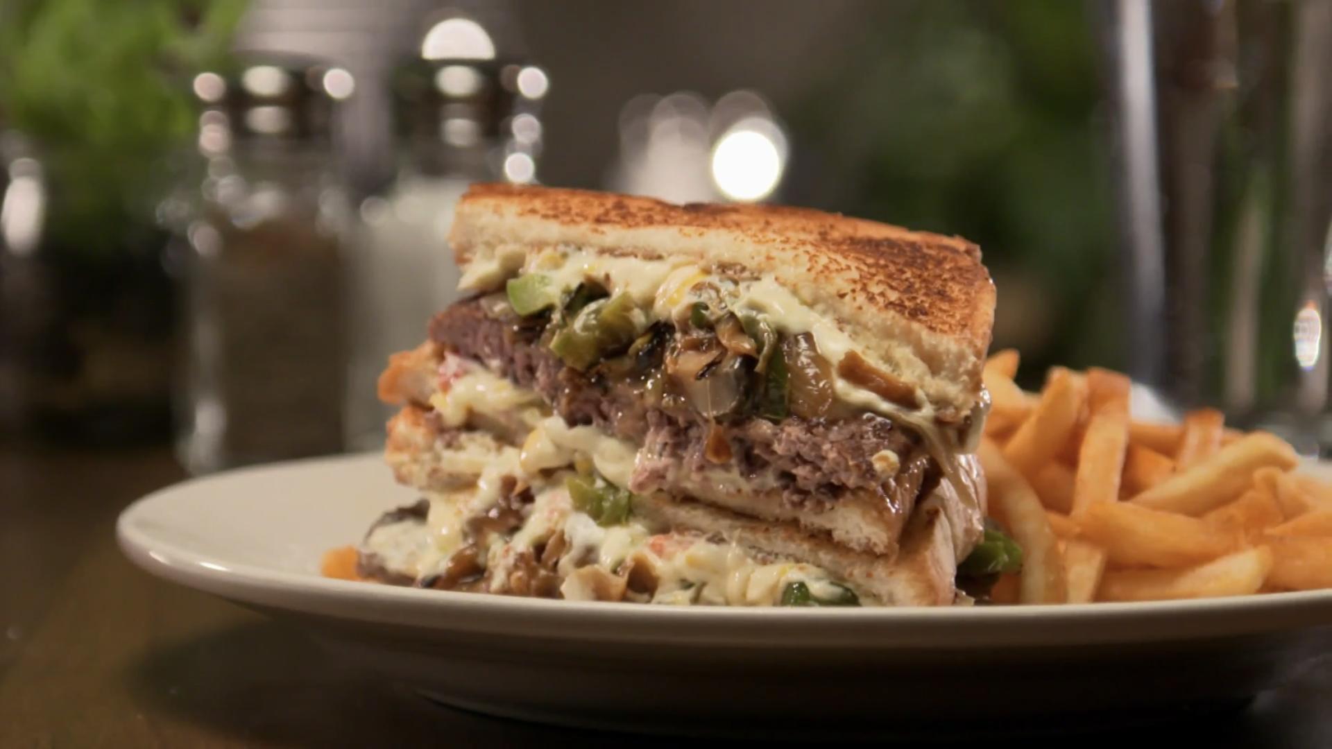 Pimento Cheeseburger with Mushroom Gravy – As Seen on Restaurant: Impossible - Robert Irvine