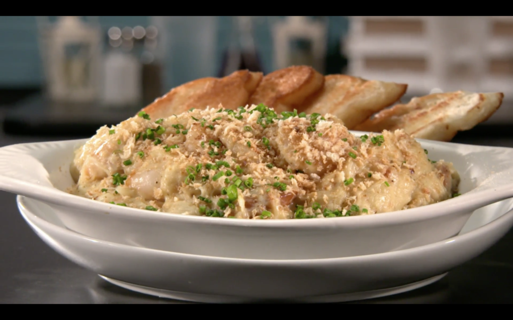 Crab & Andouille Au Gratin Dip – As Seen on Restaurant: Impossible