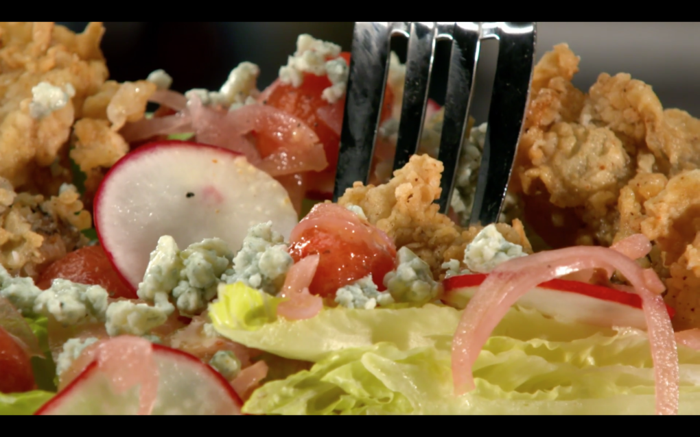 Crispy Oyster Salad – As Seen on Restaurant: Impossible